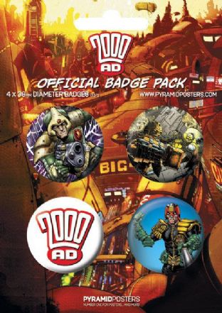 2000AD - 4 Badge Pack